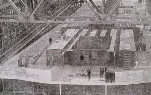 in the following photographs we can clearly see a curved wheelhouse under  construction during olympic's fitting out stage, firstly just prior to  launch and